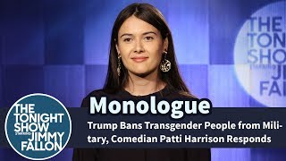 Trump Bans Transgender People from Military, Comedian Patti Harrison Responds thumbnail