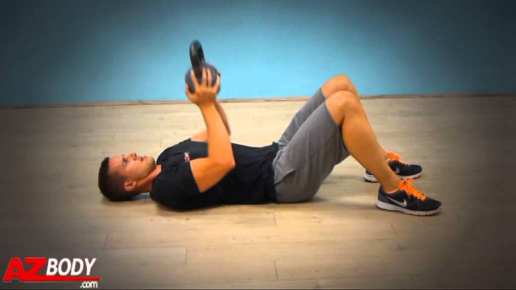 Amazing Kettlebell : Floor Press   YouTube