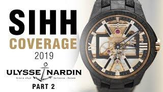 SIHH 2019: Ulysse Nardin Freak X, Skeleton X, and Diver!