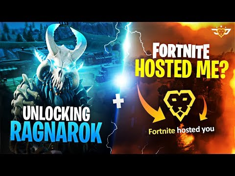 UNLOCKING RAGNAROK + FORTNITE HOSTED ME ON TWITCH?! (Fortnite: Battle Royale)
