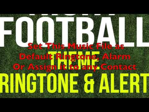 Monday Night Football Theme Ringtone and Alert