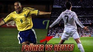 Fußball - DAMALS vs HEUTE! Ronaldo, Neymar , PELE & usw.⚽🔥