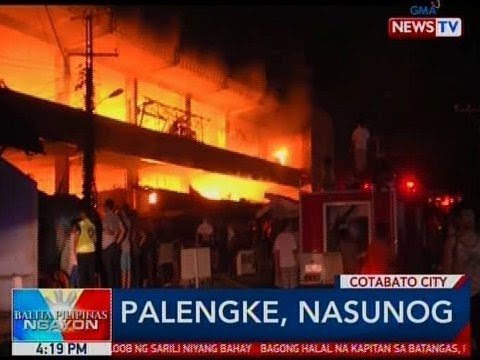 BP: Palengke sa Cotabato City, nasunog