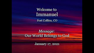 2021-01-17  Immanuel CRC Sunday Service Fort Collins