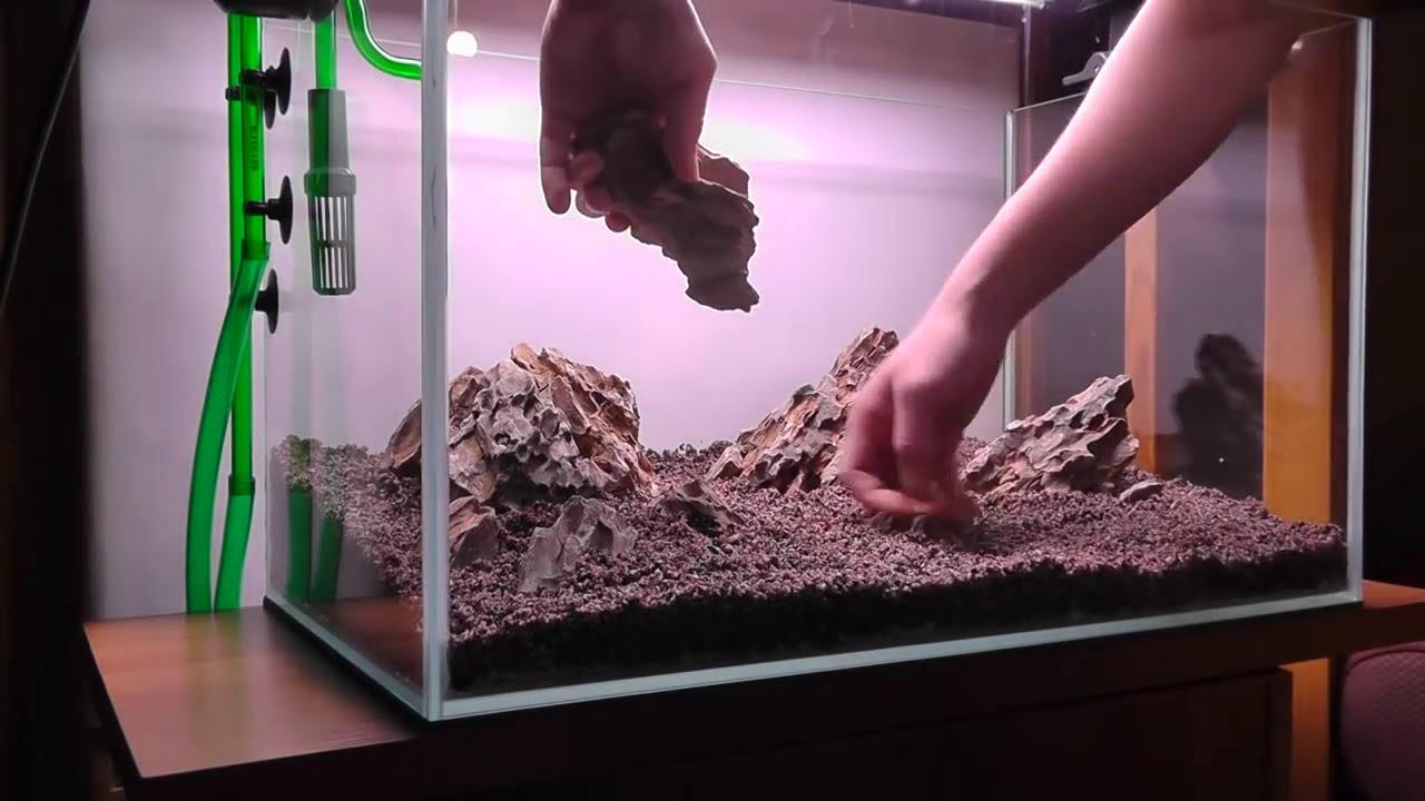 Aquascape Iwagumi Style Part 1 Hardscape Hd Youtube Ziolite Aquarium Dan