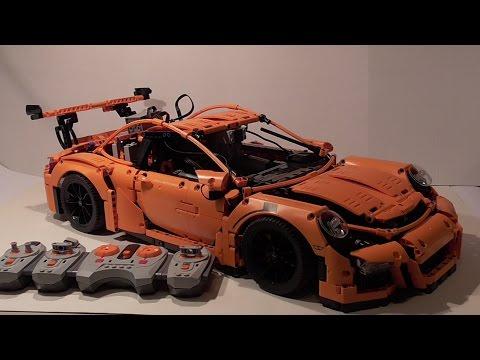 Lego Technic  Porsche 911 GT3 RS mit Powerfunktions!! Motorisiert|| Lichter und Blinker 42056 Flooo