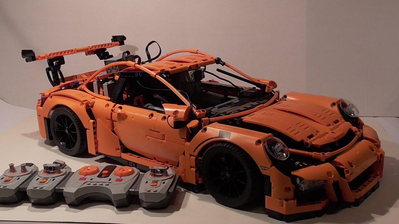 lego technic porsche 911 gt3 rs mit powerfunktions. Black Bedroom Furniture Sets. Home Design Ideas