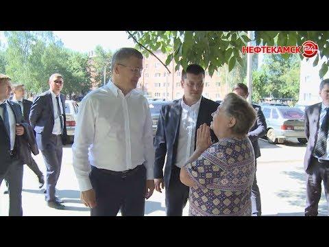 Радий Хабиров осмотрел объекты Нефтекамска