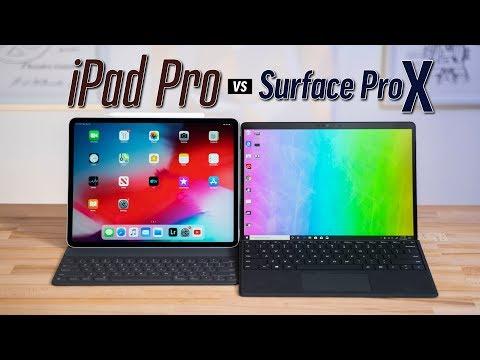 """Surface Pro X vs 12.9"""" iPad Pro - Detailed Comparison"""