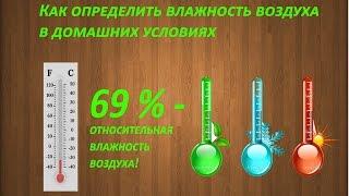 Как определить влажность воздуха в домашних условиях? Урок №4