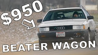 This $950 Audi Sounds EPIC // Winter Beater Challenge