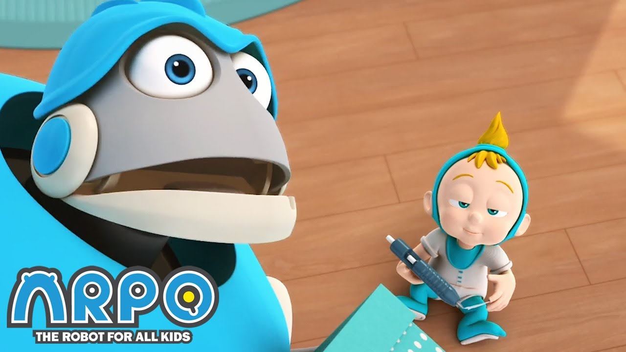 Baby Daniel is SLEEPWALKING! - ARPO the Robot | 에피소드를보고 | Cartoons for Kids | Robot Animation