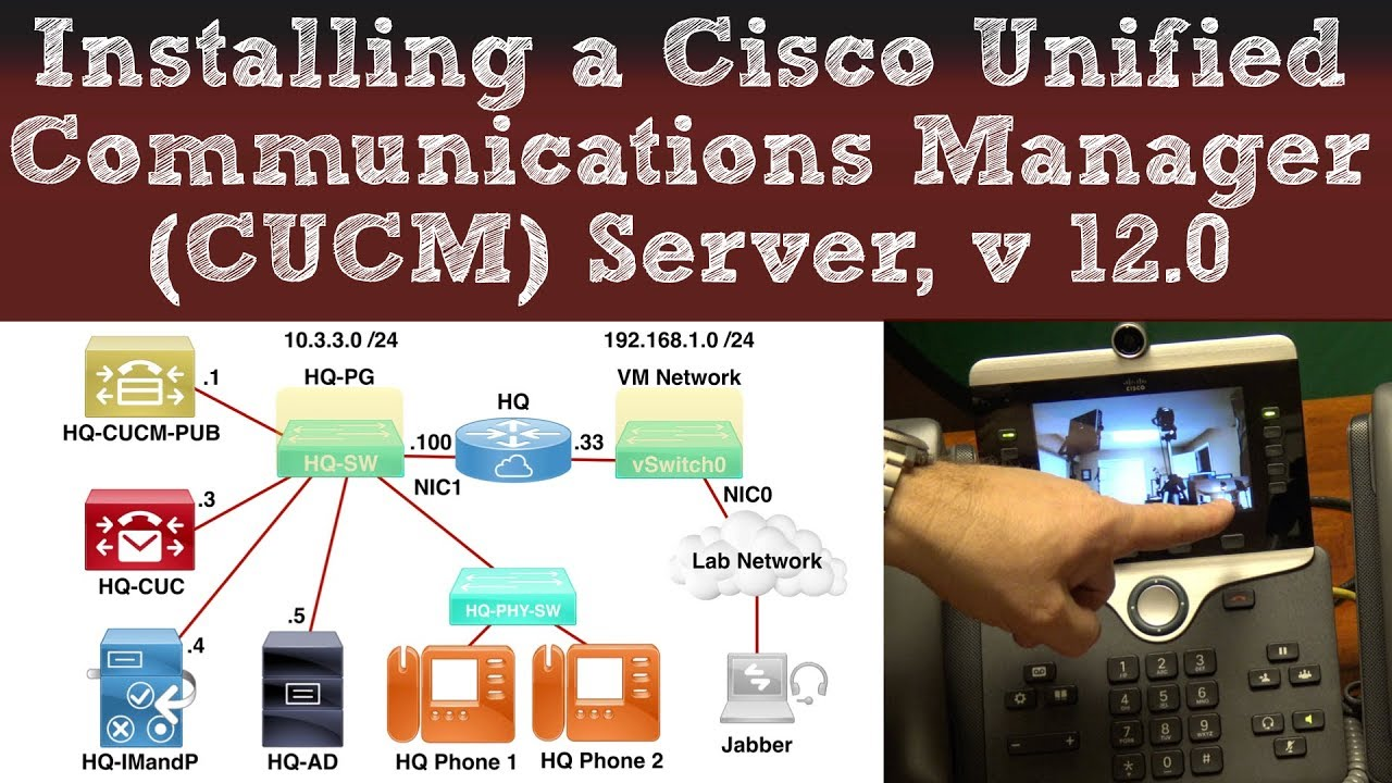 Installing a Cisco Unified Communications Manager (CUCM) Server, Version  12 0