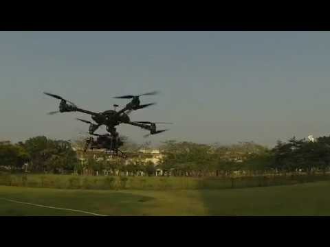 Octocopter X8 with DJI Wookong-M