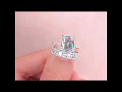 emerald-cut-white-sapphire-925-sterling-silver-classic-birdal-sets