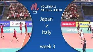 ملخص | اليابان وإيطاليا  Japan v Italy | Highlights | Week 3 | VolleyBall Nations League 2018