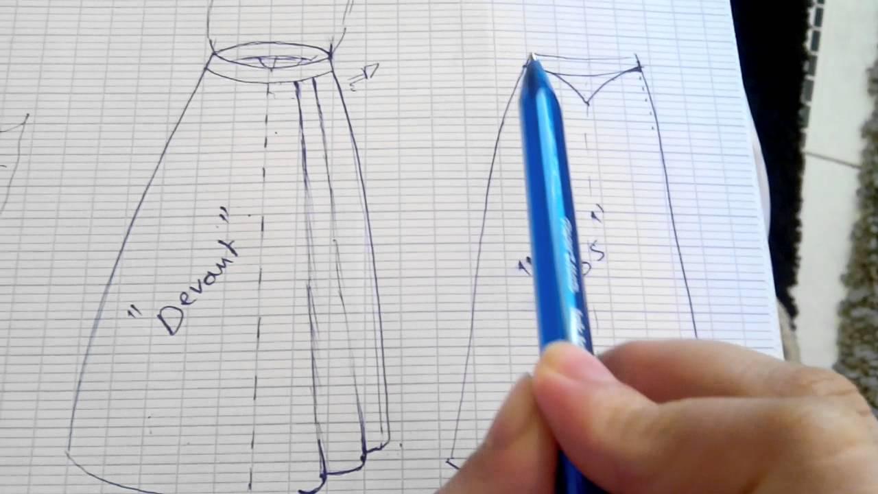 Top DIY01/ JUPE ÉVASÉE AU PLIS PLAT - YouTube CE61