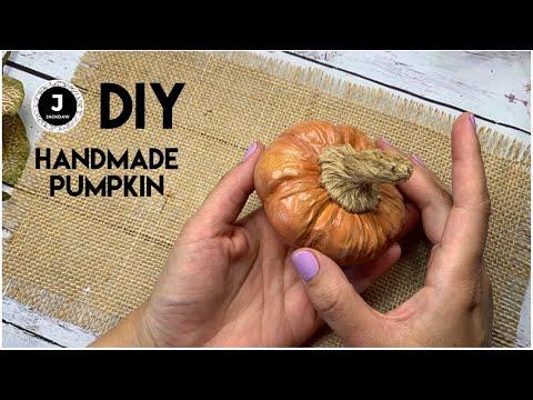 DIY. How to make handmade Pumpkin. Halloween accessory. Part 1. Тыква из фоамирана для Хэллоуина.