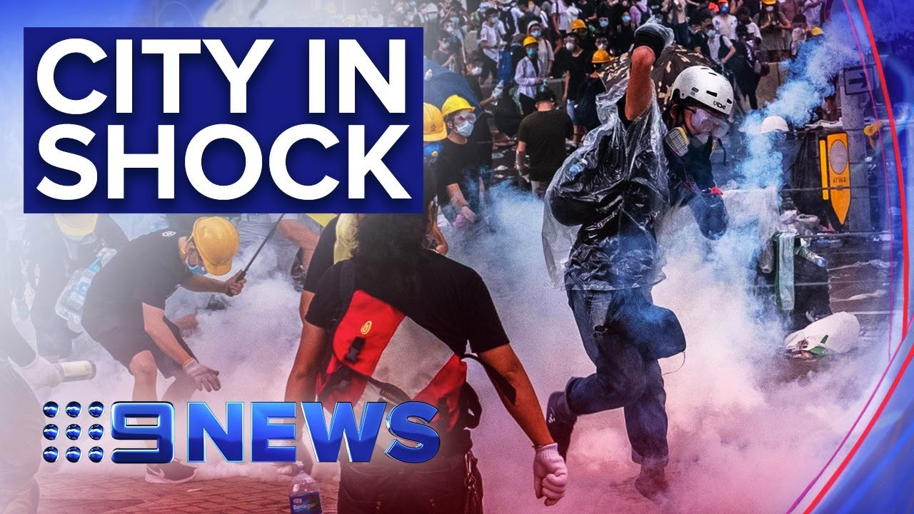 Dozens injured in violent Hong Kong street protests | Nine News Australia