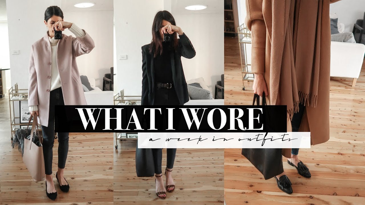 A Week in Outfits #7 - Cosy Winter Work Outfits & After Work Drinks   Mademoiselle #ad