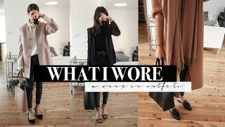 A Week in Outfits #10 - Cosy Winter Work Outfits & After Work Drinks | Mademoiselle #ad