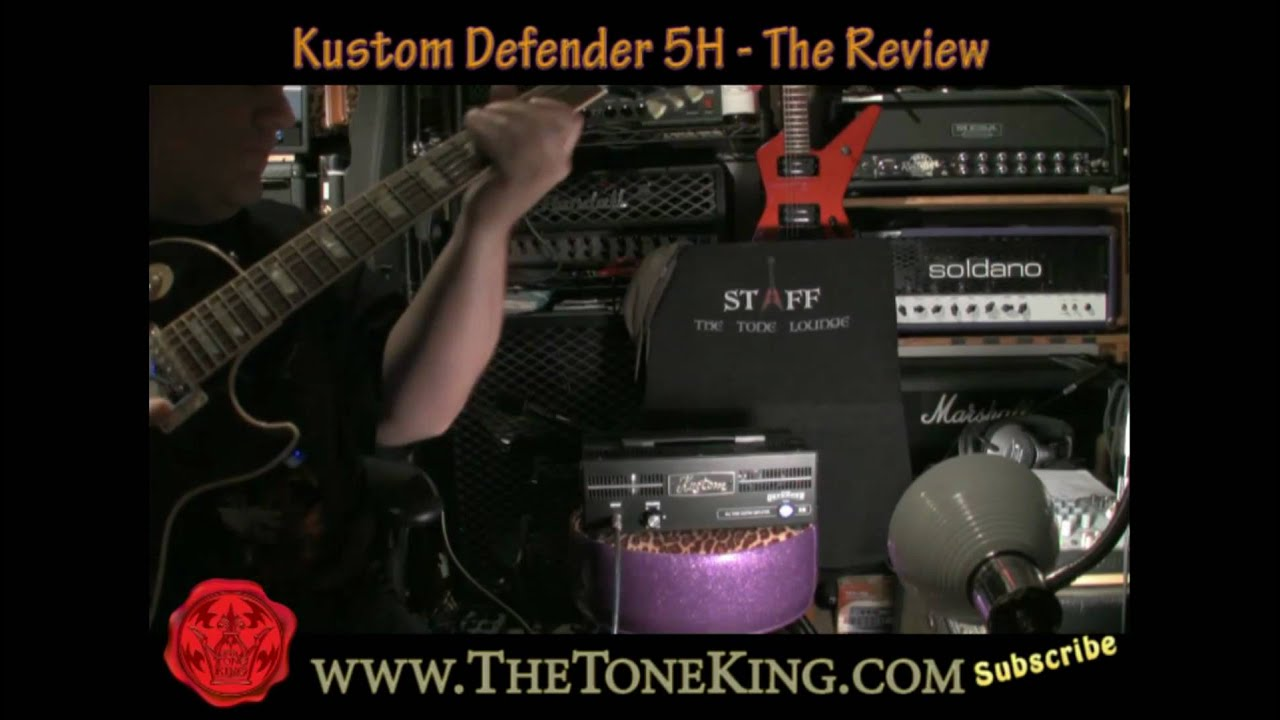 Kustom 1x12 Cabinet Kustom Defender 5h Tube Amp Head Review Demo Ttk Style Youtube