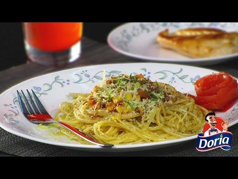 Spaghetti Integral Doria con Maíz y Cilantro