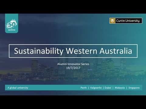 Driving Sustainability in WA | Curtin Alumni Innovator Serie
