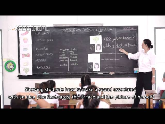 Presentation Stage of a PPP (3Ps) EFL Lesson with subtitles