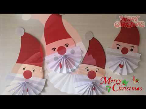 Santa Christmas paper craft for kids ||  How to Make a Paper Santa Christmas