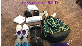 I CAN DUNK ON 8.5ft??? WHATS IN BASKETBALL BAG!!!