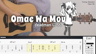 Download lagu (FREE TAB) Omae Wa Mou - deadman 死人 | Fingerstyle Guitar | TAB + Chords + Lyrics
