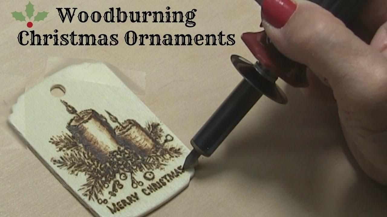 Wood Burned Christmas Tree Ornaments Burned Wood Christmas