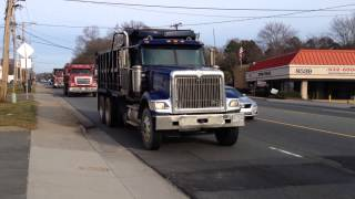 International 9900, Sterling LT9500 and International 9400 dump trucks
