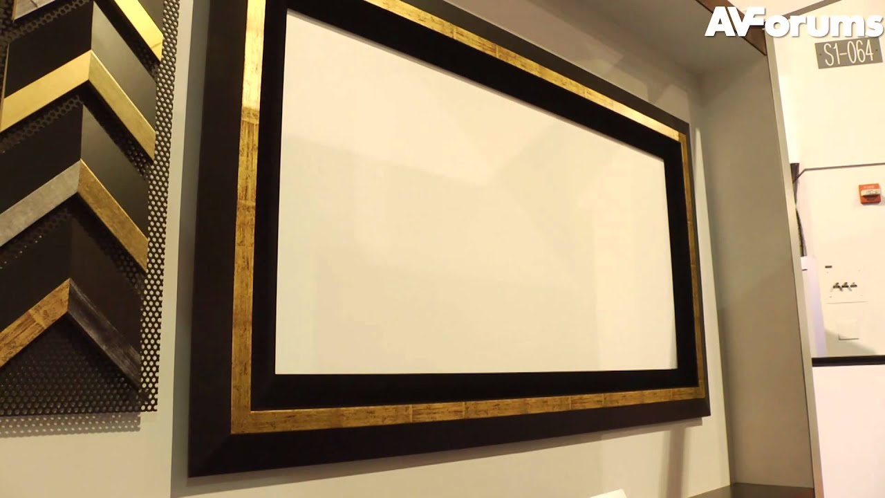 CES 2012 - Hide your projection screen under Art with Vutech - YouTube