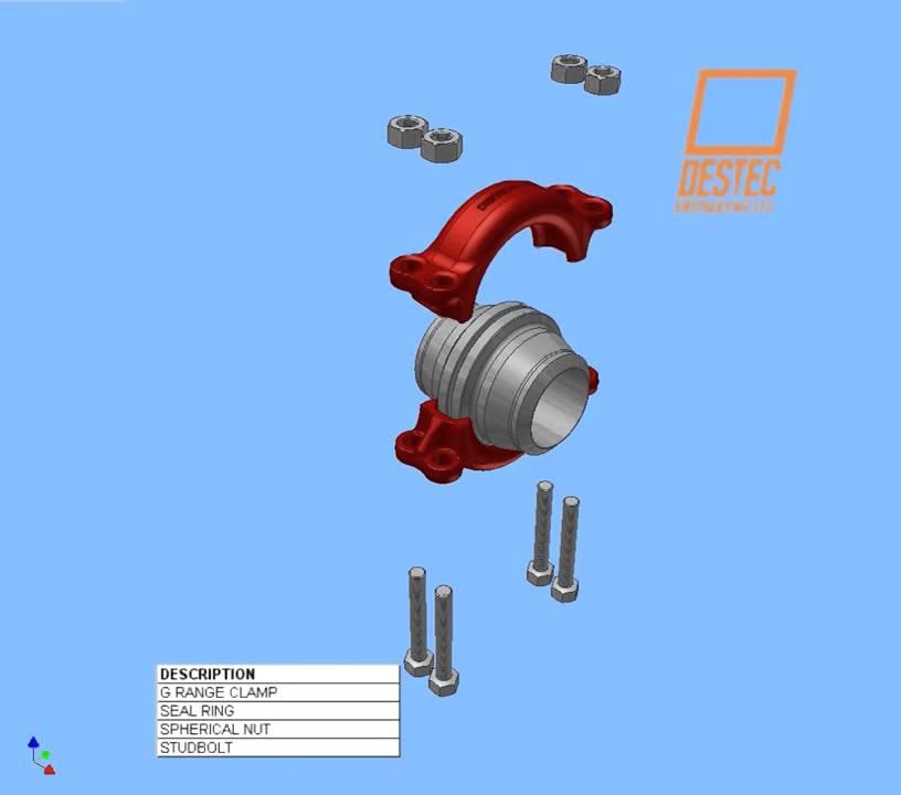 Destec G range Clamp Connector - Teesing