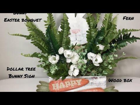 Farmhouse Style Spring Easter Decor/Dollar Tree DIY/Peek-A-Boo Bunny