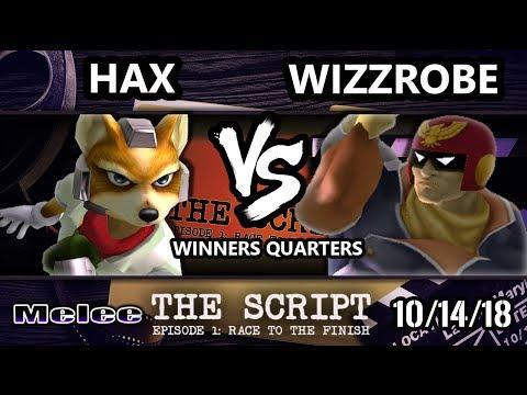 The Script -  Hax (Fox) Vs.  Wizzrobe (Captain Falcon) - Smash Melee Winners Quarters