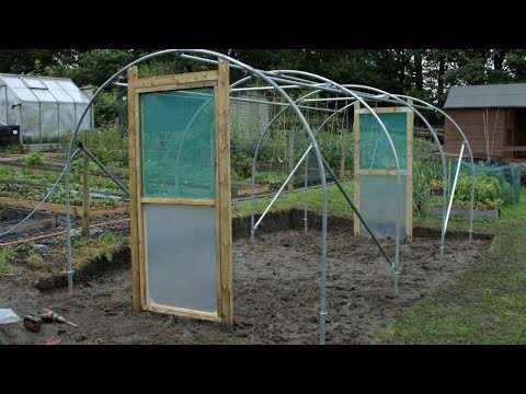 Hanging a Single Door Frame and Hinged Door on Polytunnel & Hanging a Single Door Frame and Hinged Door on Polytunnel - YouTube