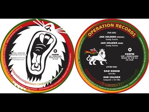 """Jah Soldier"" - Daddy Teacha - Operation Records OSSR10-004"