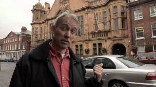 "Jasper Fforde talks about ""The Last Dragonslayer"" and visits Hereford, where the book is set."