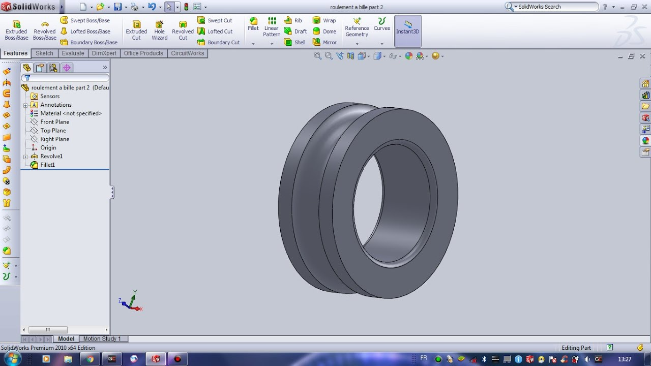 roulement solidworks