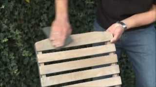 Wood Reviver Power Gel on Garden Furniture