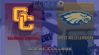CCCAA Men's Basketball: West Hills Lemoore vs Glendale - 12/18/18 - 2pm thumbnail
