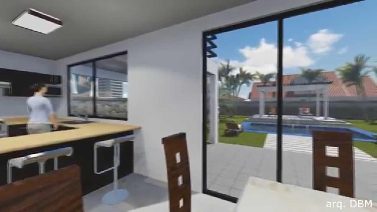 Dise o de casa habitacion moderna youtube for Casa moderna 3 habitaciones