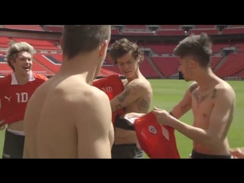 One Direction: topless at Wembley Stadium