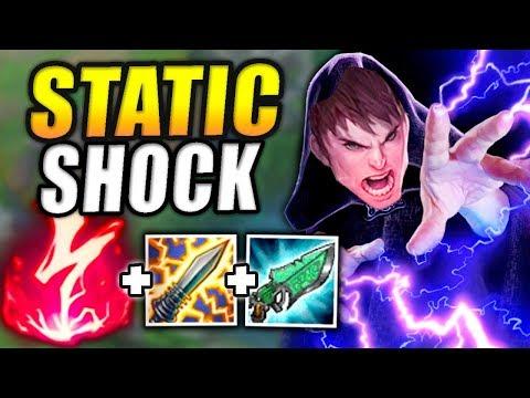 NEW STATIC SHOCK ONE-SHOT GAREN BUILD! SEASON 8 ELECTROCUTE RUNE IS BROKEN! - League Of Legends