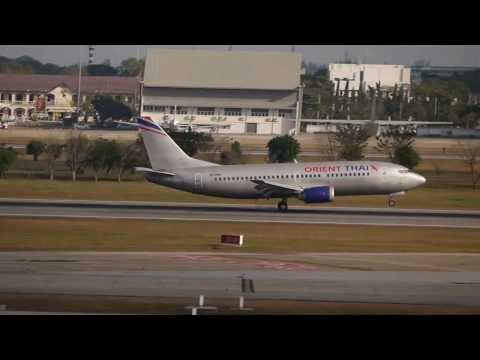 Spotting at Bangkok Don Mueang International Airport:HS-BRK Orient Thai Airlines B737-300 landing