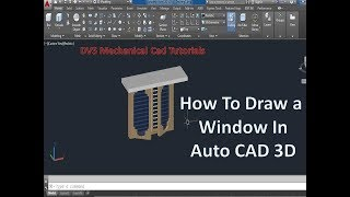 How To  Draw a window in autocad 3d   Auto cad    3D Windows   
