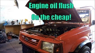 Flush out engine with diesel fuel